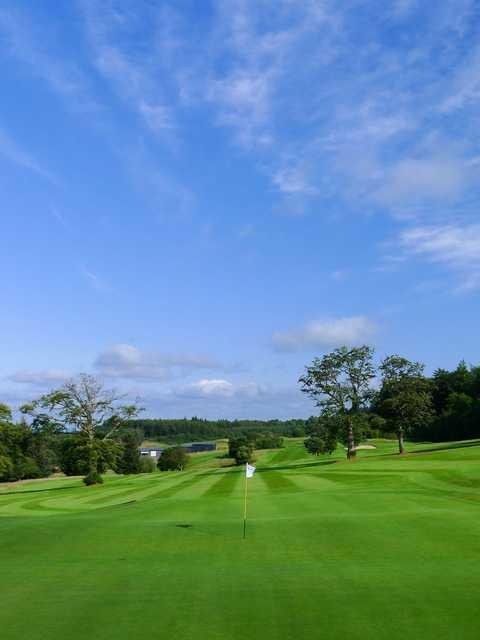 Looking back from a green at Gleddoch Golf Club.