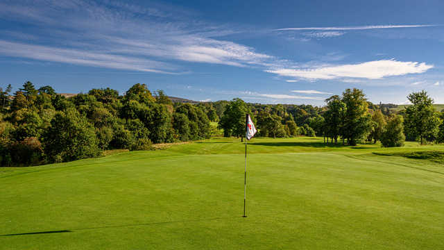 Looking back from a green at Cardross Golf Club.