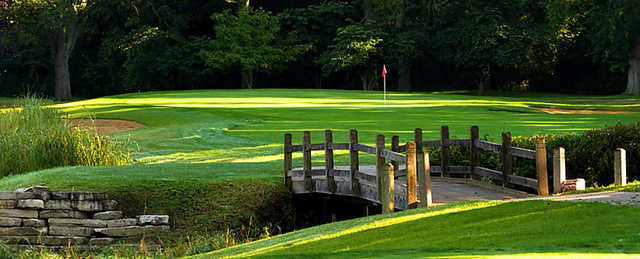 A view over a bridge at Deerpath Golf Course.