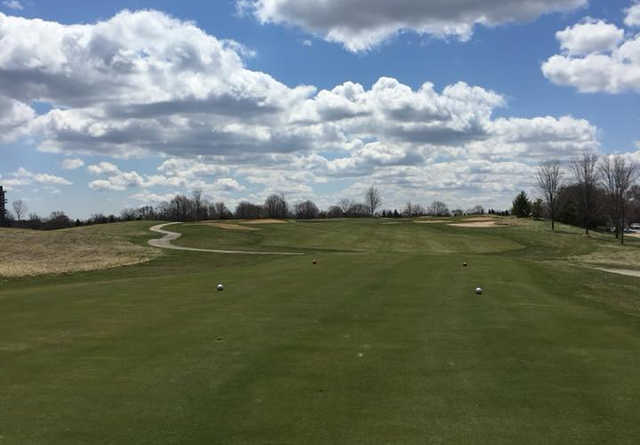 A view of tee #14 at Maple Meadows Golf Course.