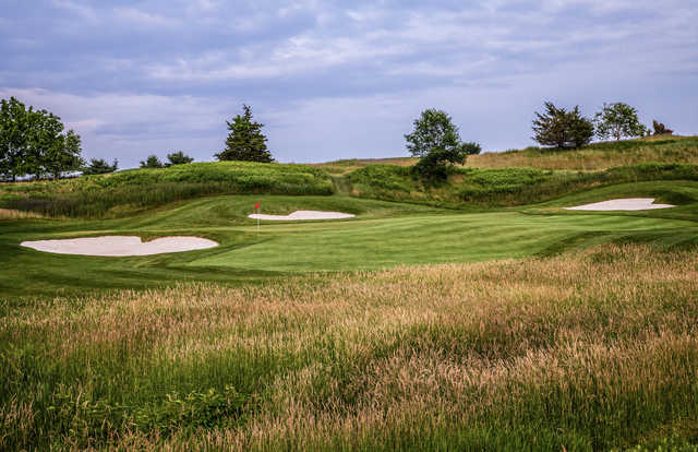 View of the 5th green at Heron Glen Golf Course.