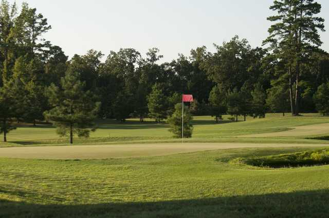 A view of a green from The Links at Springdale Golf & Country Club.