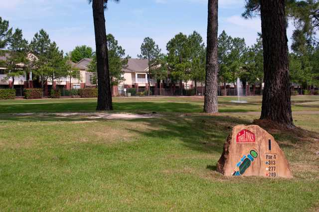 A view of tee #1 sign from The Links at Texarkana Golf & Athletic Club.