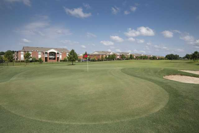 A view of a green at Longhills Golf Course.