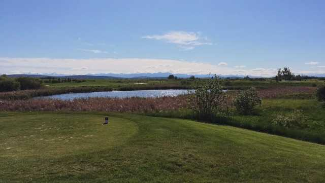 A view from a tee at River Spirit Golf Club.
