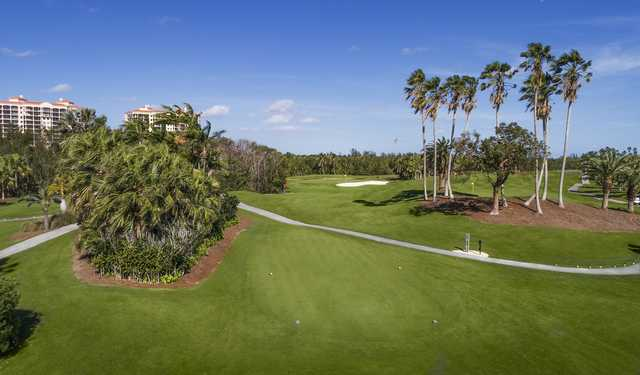 A view of tee #8 at Deering Bay Yacht & Country Club.