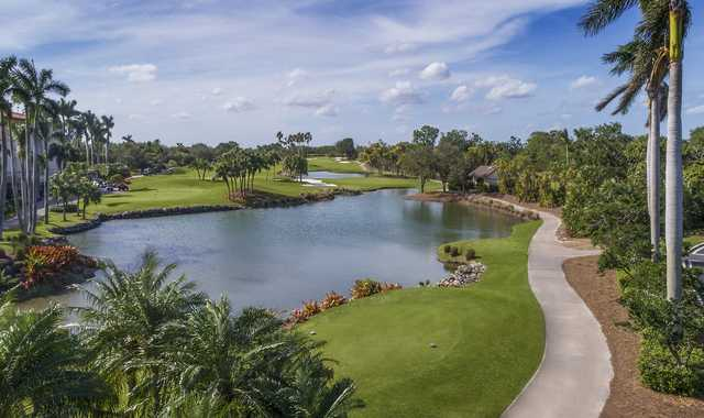 A view of tee #16 at Deering Bay Yacht & Country Club.