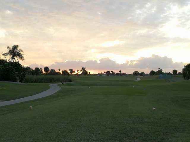 A sunset view from a tee at Cocoa Beach Country Club (I love Cocoa Beach FL).
