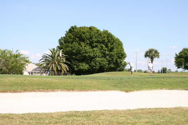 A sunny day view of a hole at Ventura Country Club.