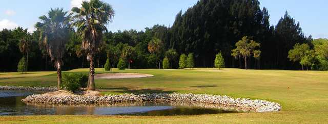 A view of a hole at Tarpon Springs Golf Course.