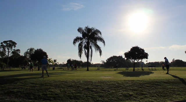 A view of the practice area at Port Charlotte Golf Club.