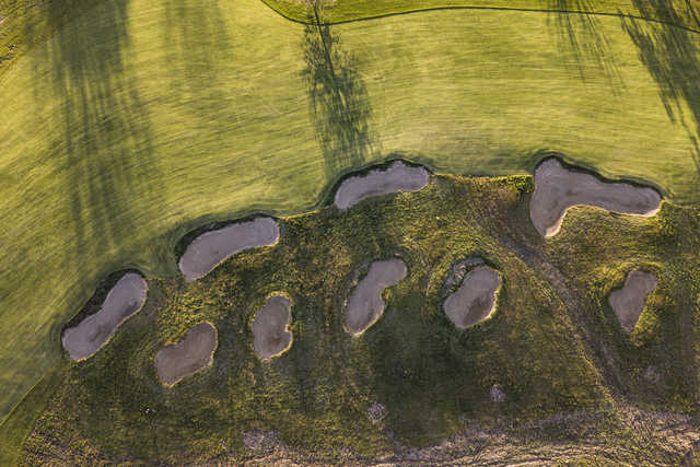 Aerial view from Pfau Golf Course at Indiana University.