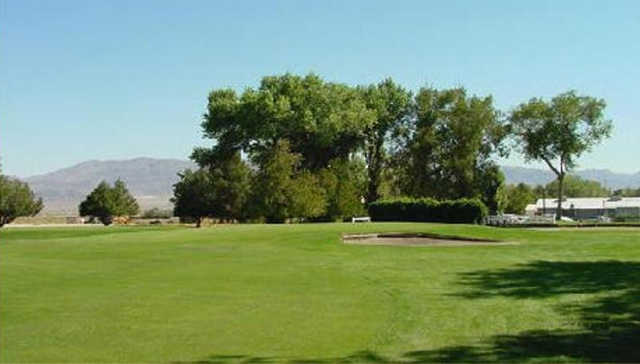 A view of hole #5 at Walker Lake Golf Course.