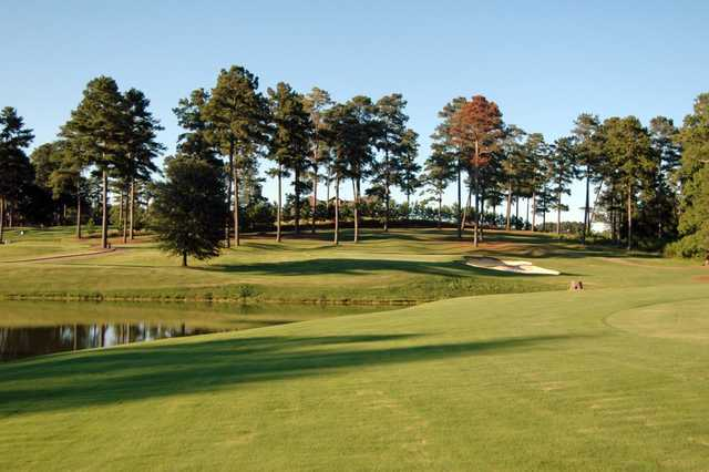 A sunny day view from Lane Creek Golf Club.