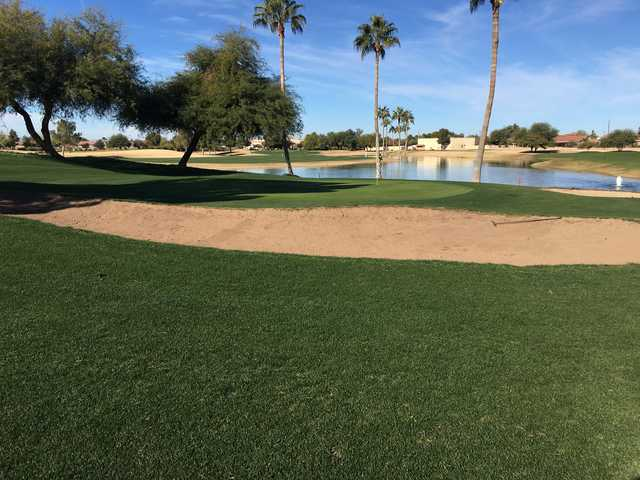 View of the 8th green at Springfield Golf Resort.