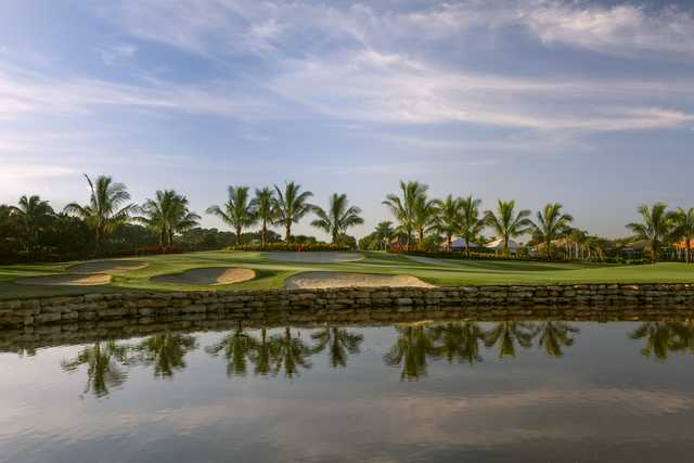 View of the 18th hole from the North Course at BallenIsles Country Club.