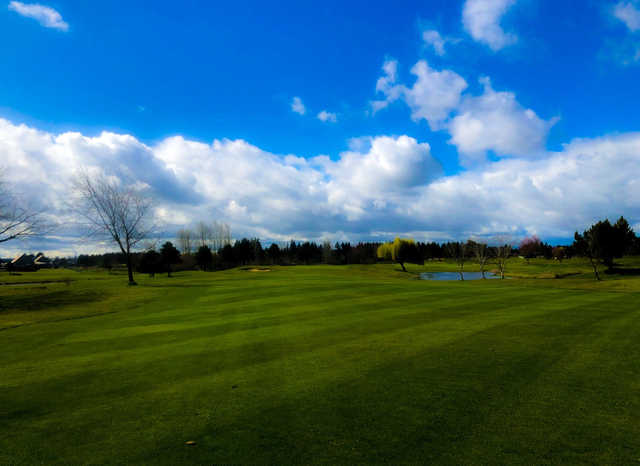 View from a fairway at Tri-Mountain Golf Course.