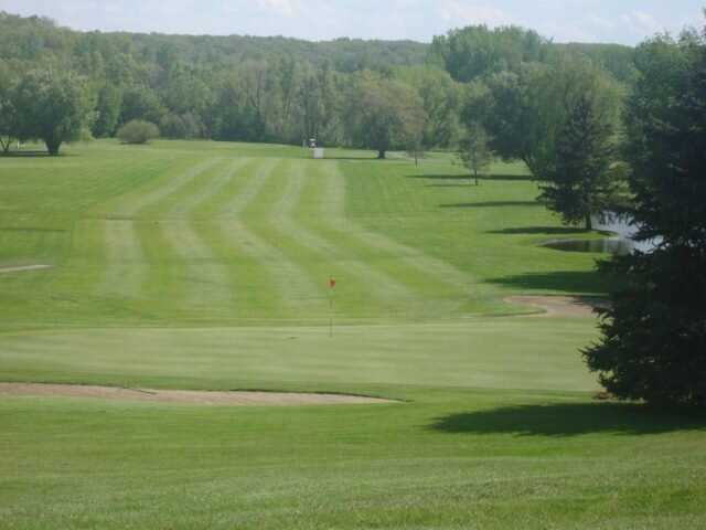 Looking back from a green at Willow Creek Golf Course.