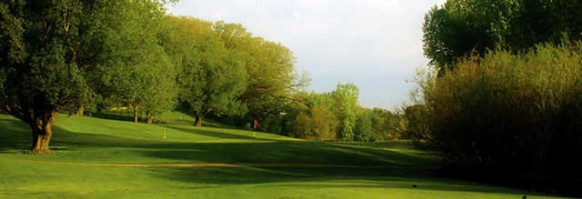 View of a green at Willow Creek Golf Course.