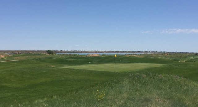 A view of a green at Twelve Shores Golf Club.