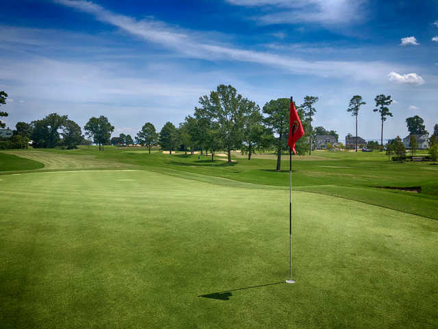 A view from a green at Kingsmill Resort Plantation Course