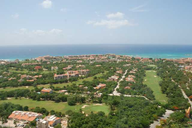Aerial view from Puerto Aventuras Golf & Racquet Club.