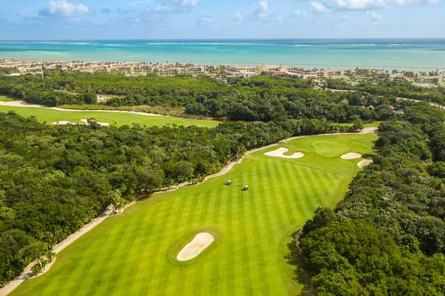 A view of a fairway at Moon Palace Cancun.