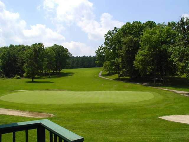 View of the 18th hole at Tioga Golf Club.