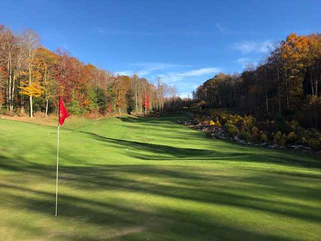 View from a green at the Woodhaven Course at Glade Springs Village.