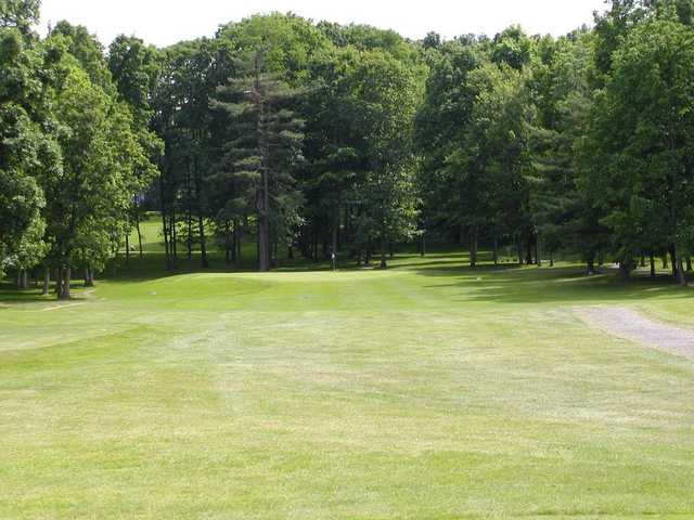 View of the 3rd hole at Tioga Golf Club.