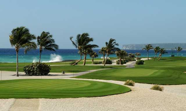 A view from hole #10 and the 18th tee in the distance at Cap Cana - Punta Espada.