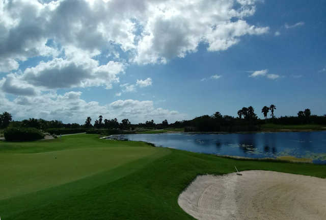 A view of green #4 at Riviera Cancun Golf & Resorts.