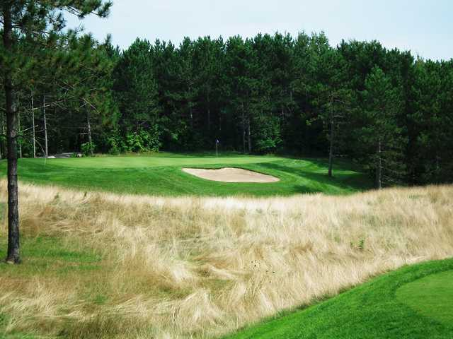 A view of a hole from Championship Grind at Mill Run Golf Club.