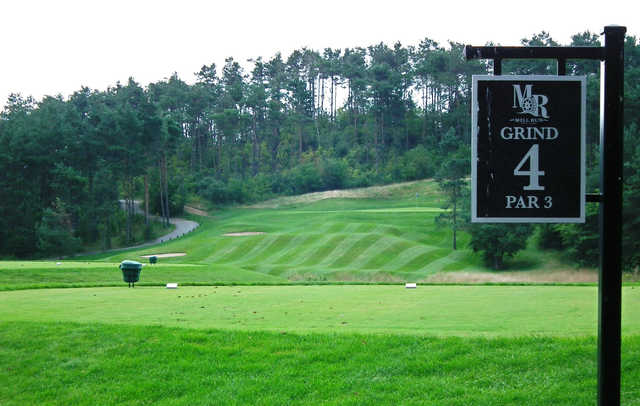 A view from tee #4 sign at Championship Grind at Mill Run Golf Club.