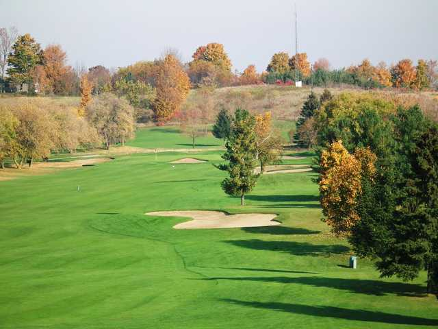 A fall day view from Mill Run Golf Club.