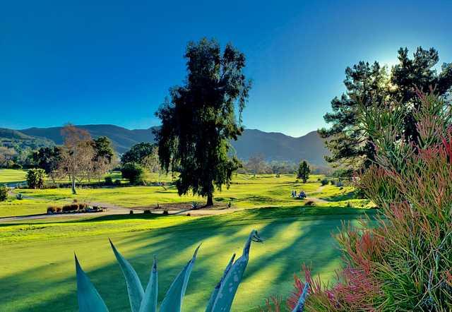 A view from Carlton Oaks Golf Club.