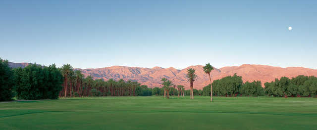 A view from Furnace Creek Golf Course at Death Valley.