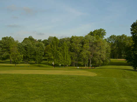 A view of a hole at Burke Lake Golf Center.
