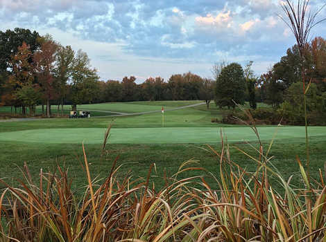 A view of a green at Greendale Golf Course.