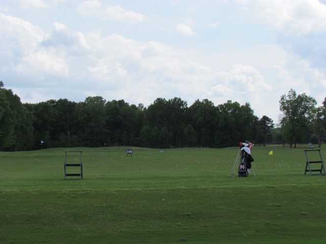 A view of the driving range at Gateway Park Golf Course.