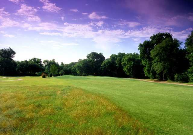 A view of green #17 at Lake Arlington Golf Course.