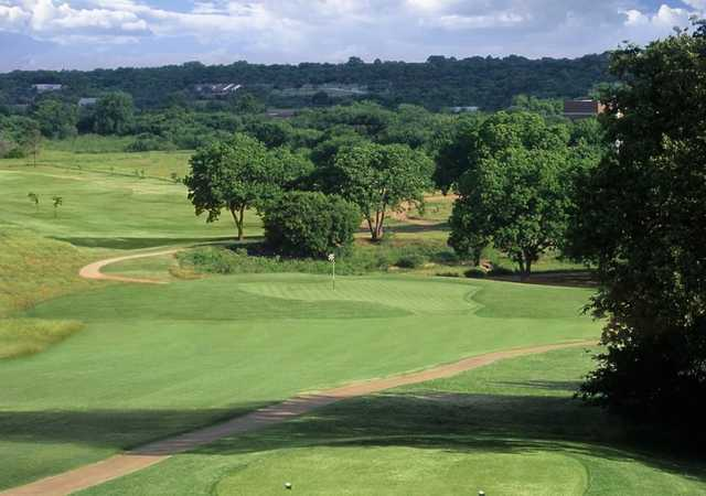 A view from tee #14 at Lake Arlington Golf Course.