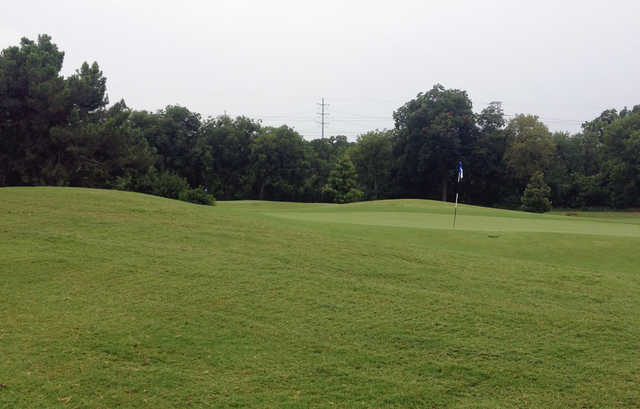A view of a hole at Lake Arlington Golf Course.