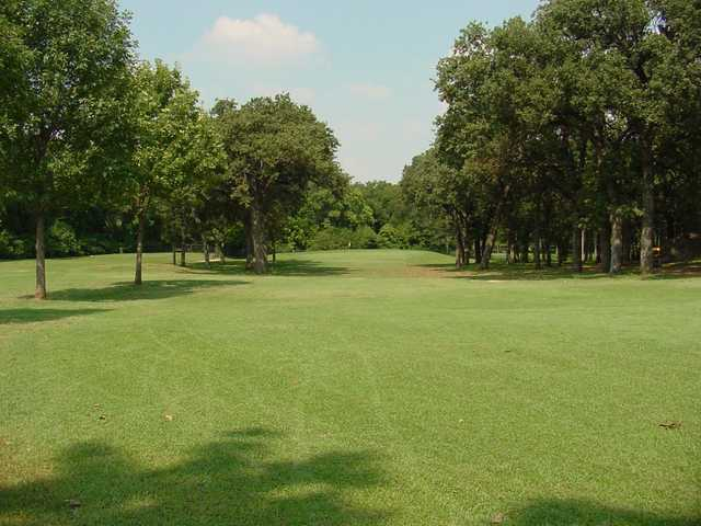 A view of a hole at Meadowbrook Park Golf Course.