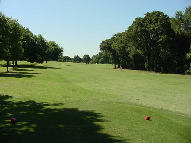 A view from a tee at Meadowbrook Park Golf Course.