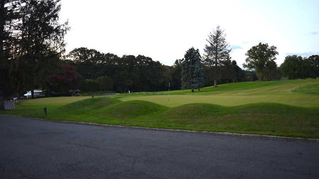 A view of a hole at Leewood Golf Club.