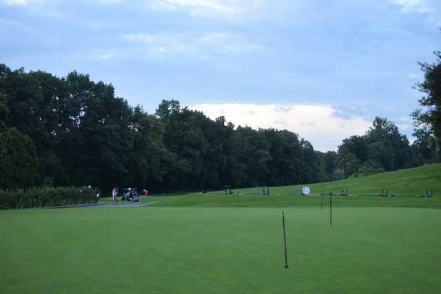 A view of the practice area at Leewood Golf Club.
