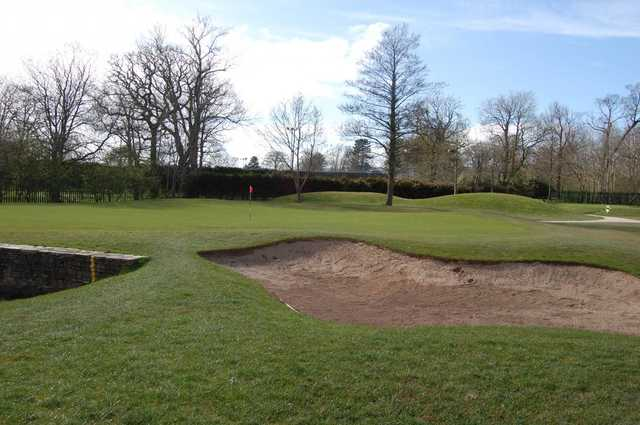 View of the 1st green at Ormeau Golf Club.