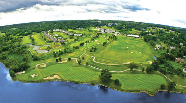 Aerial view from Geneva National Golf Club.