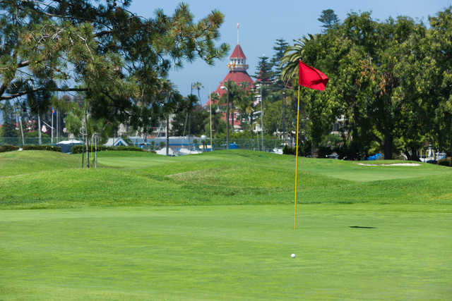 A view of a hole at Coronado Golf Course.